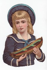 Victorian die cut sailor boy with toy boat (oldsailro) Tags: park old boy sea summer people sun lake playing beach water pool girl sunshine youth sailboat race vintage children fun toy boat miniature wooden pond model die waves sailing ship child with time yacht cut antique group victorian boom regatta mast sailor hull spectators watercraft adolescence keel fashioned