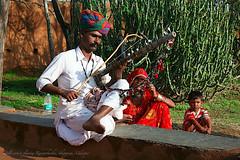 Folk Musician playing the Ravan Hatha (Roving-Aye!) Tags: musician music rajasthan udaipur ravanhatha