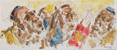 Simhat Torah (Center for Jewish History, NYC) Tags: paintings watercolors simhattorah jewishholidays chaimgross