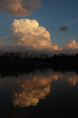 (  asaf pollak) Tags: park city sunset cloud reflection water clouds river israel telaviv stream yarkon yarkonpark             asafpollak