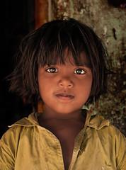 Pure soul. (Prasenna (Prazy)) Tags: india colors girl closeup hair kid eyes nikon village child south kitlens sparkle 1855mm chennai tamilnadu cwc d90 chengalpattu nikond90
