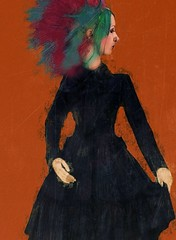 Cool Britannia VI (Sarah Jarrett) Tags: portrait painterly fashion illustration iphoneart iphoneography