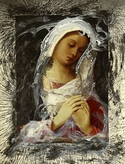 Madonna (nkimadams) Tags: christmas collage painting mary nativity