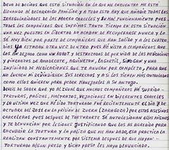 aplicación legal desplazada #3 FIES. carta de preso FIES