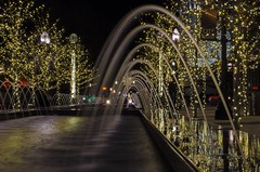 City Creek Mall (AnitaBurke1) Tags: christmas water utah nikon nightlights nightscape christmaslights waterfountain templesquare saltlakecityut d5100 citycreekmall