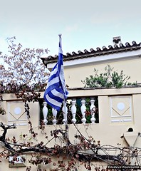 (Eleanna Kounoupa) Tags: flag details athens greece plaka oldhouses traditionalarchitecture    hccity