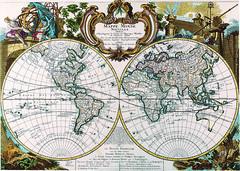 Antique Maps (divinumphoto) Tags: map antiquemapsoftheworld doublehemispheremap georgelouislerouge c1744