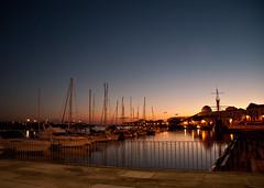 the quietness (obsidiana10) Tags: sunset portugal port puerto sailing barcos puestadesol anochecer veleros viladoconde puertodeportivo boat·