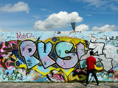 Graffitiwand (duqueros) Tags: city berlin art wall germany deutschland graffiti artist colours wand kunst stadt mauerpark knstler duqueiros mygearandme