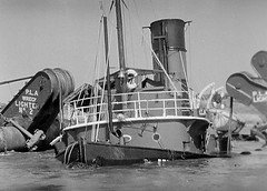 Tug In Deep Trouble... (colinfpickett) Tags: old london water thames boat ship vessel tug sunk sank daysgone suntug
