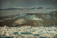 Here and there (Weisimel) Tags: winter sunset snow mountains texture fog clouds landscape nikon snowy poland polska 60mm peaks nikkor zima gry tatry d800 mrz beskidy drzewa beskid krajobraz wysokie zachodnie pilsko tekstura lski ywiecki