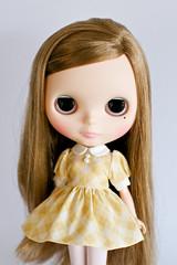Beige Yellow Plaid Dress