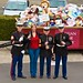 Judy Jordan and U.S Marines from Toys for Tots