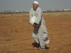 010 (Images from Gaza) Tags: farming solidarity shooting gaza sowing accompaniment bufferzone ceasefire israelimilitary december2012 khuzaa wheatplanting