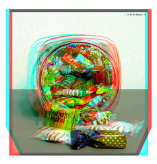 Candy Jar (starg82343) Tags: outside outdoors stereoscopic 3d md candy border maryland anaglyph stereo jar sweets effect depth glassjar throughthewindow stereoscopy candyjar candywrappers stereographic ttw brianwallace fancyframe stereoframe