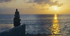 Sunset Bokeh (Jamie Frith) Tags: ocean sunset rock evening nikon paradise bokeh stack maldives infinitypool d800 2470 huvafenfushi oceanbungalow