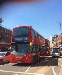 Unexpected arrival! London Sovereign VH45189 on route 13 at Finchley Road. (LBOTG) Tags: bus green london for volvo transport aldwych wright hybrid 13 gemini ratp golders tfl transportforlondon wrightbus gemini3 londonsovereign b5lh vh45189 lj16ewm