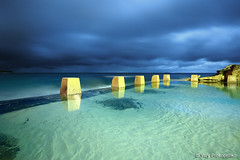 Coogee Pool (renatonovi1) Tags: coogee night predawn pool rock ocean sea sky sydney australia nsw