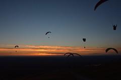 DSC_1777 (justinecharrel) Tags: sunset coucher de soleil auvergne france puydedome volcan montagne nature landscape paysage colors orange red blue sky clouds sun parapente parasailing nikon nikond3200 out