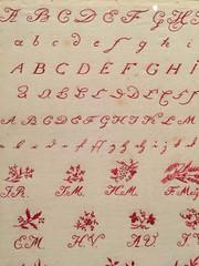 1-17 Nadelman Folk Art at NYHS (MsSusanB) Tags: nadelman nyhs folkart sampler stitch german elie viola wood modernart