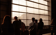 (georgiasewell15) Tags: berlin 35mm canon city hauptbahnhof station sunset golden hour people agfa 200 silhouette