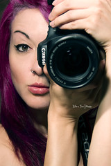Self Portrait (Moira_Fee) Tags: selfportrait self portrait retrato purple hair canon eos 7d camera girl woman chica mujer beauty make up photographer people moira fee amazin krisis