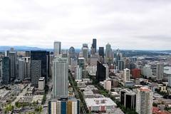 Seattle Landscape from the Space Needle (gordanallen) Tags: peugeotsound skyscraper washington cityview ballfield highrises safecofield spaceneedle seattle