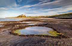 Bamburgh evening (catkin314) Tags: northumberland seascape pools evening rockpools bamburghcastle