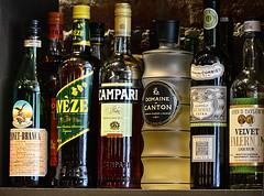 Campari and Company (pjpink) Tags: whiskey whisky scotch bourbon booze bar saloon bottle alcohol jackrose jackrosediningsaloon adamsmorgan washington washingtondc dc august 2016 summer pjpink