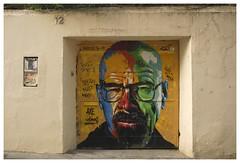 Barcelona_0274 (Thomas Willard) Tags: barcelona spain graffiti tag mural espaa wall paint cranston breaking bryan bad door gracia art walter white