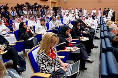 Media Representatives Take Notes as Secretary Kerry Addresses Reporters With Saudi Arabia Foreign Minister Adel al-Jubeir in Jeddah (U.S. Department of State) Tags: johnkerry jeddah saudiarabia