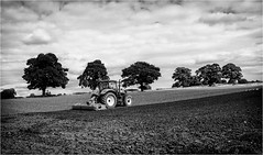 Stainton  . (wayman2011) Tags: fujifilmx100 lightroom wayman2011 bwlandscapes mono tractors farming farmmachinery trees pennines dales teesdale stainton countydurham uk