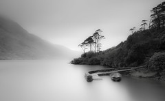 The Boat That Rocked (TS446Photo) Tags: mono fog mist water boat black white ireland