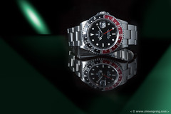 Red and Green (Simon Greig Photo) Tags: 16710 black closeup gmt gmtmasterii green macro red rolex studio swiss timepiece watch