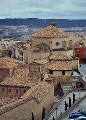 Streets of Cuenca, in Spain (marozn) Tags: architecture bridge building castilla city cliff cliffside clourful colour cuenca day destination europe famous hanging heritage high historic house landmark landscape mancha medieval old province ravine rock roof roofs scenic site spain spring summer tall town traditional travel unesco valley view panorama