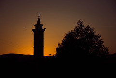 Athan (Ch.Benabid.Photographies (fb/page)) Tags: mosque minaret prayer call islam muslim sunset urban culture religion silhouette