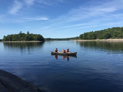 Liz and family are off! (Gillian Walker) Tags: crotch lake ontario canoeing camping summer labour day 2016