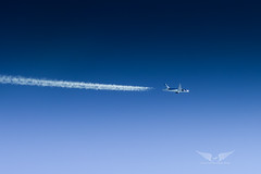 Air to Air with Boeing 787-8 (gc232) Tags: boeing 787 b787 7878 airtoair air air2air airliner airline flying fly live from flight deck golfcharlie232 sky blue deep contrails chemtrails engines boeing787 plane airplane aviation avgeek pilots altitude