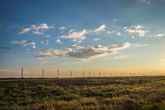 West Texas Morning (8 of 40) (mharbour11) Tags: wildcats elk purple sunrise westtexas texas sky windturbines windmill sun silhouettefire silhouette