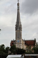 IMG_4442a - Catholic Cathedral, Ci B, Vietnam (Wayne W G) Tags: cib vietnam asia southeastasia caibe avalon religion religious catholic catholicism steeple steeples tower towers church churches cathedral cathedrals