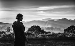Portrait. (Padmanabhan Rangarajan) Tags: araku valley rural woman portrait sunset mountains landscape tribal indian