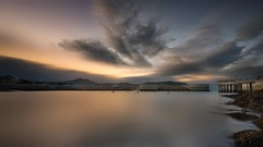 Still Waters...  [Explored September 22nd 2016] (fearghal breathnach) Tags: greystones greystonesharbour harbour longexposure sunset clouds water calm stillwaters wicklow sugarloaf sugarloafmountain summer