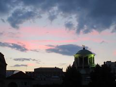 Kunstgebude and sunset sky, Stuttgart, Germany (Paul McClure DC) Tags: stuttgart germany deutschland aug2016 badenwrttemberg architecture historic