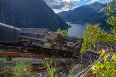 Taken the last trip (T.Seim) Tags: cableway cable car tyssedal lilletopp pipeline hydroelectric hydropower hardanger historic
