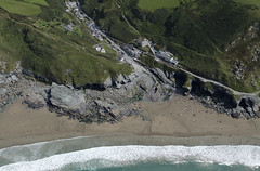 Port William at the southend end of Trebarwith Strand - Cornwall aerial image (John D F) Tags: trebarwithstrand cornwall cornish coast beach bay aerial aerialphotography aerialimage aerialphotograph aerialimagesuk aerialview portwilliam cove