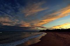 Plage de Pabos (pascal_roussy) Tags: plage ocan eau mer golfestlaurent baiedeschaleurs sea nuage clouds qubec canada gaspsie pabos paysage landscape t summer nikon d3100 nature