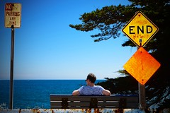 END Hell (Louis PERPERE) Tags: ocean california santa sea usa america bench nikon time no united parking hell any cruz end states nikkor f3556 1685mm d7000