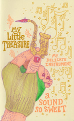 a sound so sweet (jeremy pettis) Tags: day hand treasure doodle gloves delicateinstrument doodleday minisax