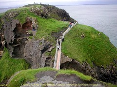 North Antrim Coast.- Carrick A Rede Rope Bridge in County Antrim, Northern Ireland. (mrvisk) Tags: old irish history tourist attraction causeway co people crossing leisure fishing rock scientific interest caves grass salmon views atlantic ocean sea man sleeping pic family friends groupshot scenic