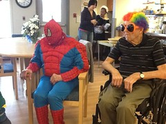 spidy and colleens dad (Points West Living) Tags: halloween fun good evil enjoy lloydminster spidermen